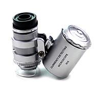 נורמלי 60x x 10mm מיקרוסקופ Silver
