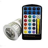 E26/E27 5 W 1 250 LM RGB Remote-Controlled AC 85-265 V