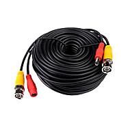 30 meter (of 98 voet) BNC video en voeding 12V DC geïntegreerde kabel