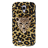 Fashion Design Leopard Pattern Hard Case kanssa tekojalokivi Samsung Galaxy S4 I9500