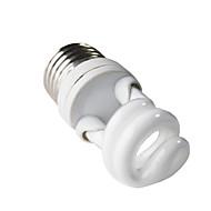<H+LUX E27 7W 350LM 2700K CRI> 80 Warm lampadina bianca CFL Spirale (220-240V)