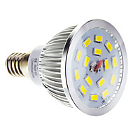 5W E14 LED 스팟 조명 15 SMD 5730 100-550 lm 따뜻한 화이트 / 차가운 화이트 밝기 조절 AC 220-240 V