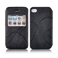 abcd234 Angibabe Flip PU Leather Business Case Dormancy Nukkumistoiminto iPhone 4 4S