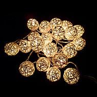 ivoorwit handgemaakte rotan ballen lichtslingers voor fee partij& patio decor partij (20 stuks)