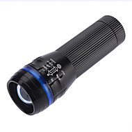 LED Taschenlampen / Hand Taschenlampen LED 3 Modus 350 Lumen Wasserdicht 18650 / AAA Camping / Wandern / Erkundungen-SmallSun,Schwarz