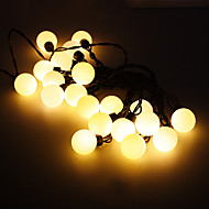 5M 15W 20-LED Warm White Light Ball Shaped LED Strip Light (220V)