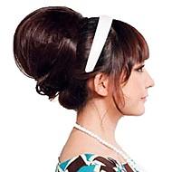 kvinde mode chignon bryllup bruden bolle syntetisk paryk hår varmebestandigt fiber billige cosplay party hårpåsætning