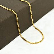 Dourado Aço Inoxidável / Aço Titânio / Chapeado Dourado Diário / Casual / Esportes Jóias