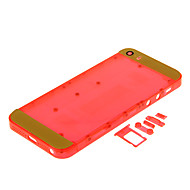 Red Hard Plastic Back Battery Housing with Buttons and Yellow Glass For iPhone 5s