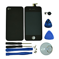 LCD Digitizer Assembly,Glass Back Housing Cover,Home Button and Tools for iPhone 4S (Assorted Colors)