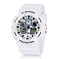 Men's Multi-Functional Digital-Analog Dial Rubber Band Wrist Watch (Assorted Colors)