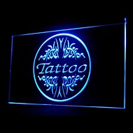 Tattoo Shop Bone White Blue Orange Red Yellow Purple Green Advertising LED Light Sign