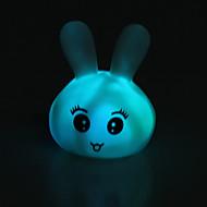 Kaninchen geprägt bunten LED-Nachtlicht (3xAG13)