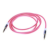 3.5mm 오디오 잭 연결 케이블 (레드 1.04m)