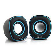 Caja de altavoz 2.0 Mini Bass alta calidad Portable para PC / Multi-Media / Laptop