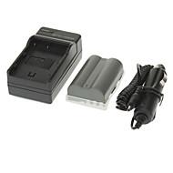 ismartdigi 1650mAh Bateria Camera + carregador de carro para NIKON D700 D90 D80 D200 D300 FNP-150