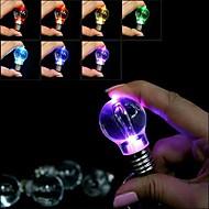 かわいいミニemulationalの電球形ノベルティLEDライトが7色の点滅キーホルダー(電池込)