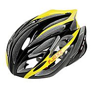 Helmet Pyörä (Keltainen , PC / EPS)-de Naisten koot / Miesten / Unisex - Pyöräily Maantie / Urheilu / Puolikuori 21 HalkiotMedium: