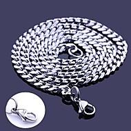Colar Cadeia presente personalizado, Prata, Aço Inoxidável Jóias Gravado 0,5 centímetros Largura