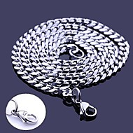 Gepersonaliseerde Gift Silver Stainless Steel Jewelry Gegraveerde Collier 0,5 cm Breedte