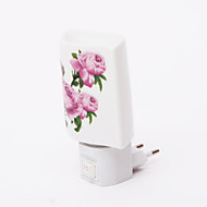 Pink Flower Pattern 2 Mode LED Night Light(110V-240V)
