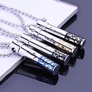 Personlig gave Hollow rustfritt stål smykker gravert anheng halskjede med 60cm Chain