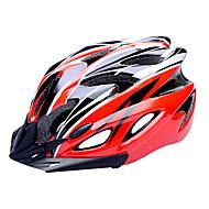 FJQXZ EPS + PC 빨간색과 검은 색 일체형으로 성형 순환 헬멧 (18 통풍구)