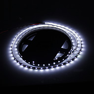 24W 1800LM 6500K 300-3528 SMD LED White Light Strip Lamp - Bianco + Nero (DC 12V / 5m)