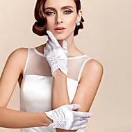 Polslengte Vingertoppen Handschoen Satijn Bruidshandschoenen Feest/uitgaanshandschoenen Lente Zomer Herfst