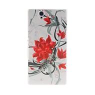 Kinston Flowers Bloom Pattern Plastic Hard Case for Sony L36h(Xperia Z)