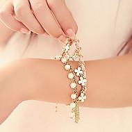 z&x® kunstnerisk perle 45cm kvinner golden legering sjarm armbånd (flerfarget, hvit) (1 stk)