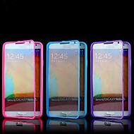 For Samsung Galaxy Note Flip Transparent Etui Heldækkende Etui Helfarve TPU for Samsung Note 3