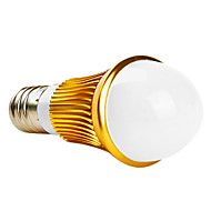 Ampoules Globe Blanc Chaud A E26/E27 3 W 3 LED Haute Puissance 280 LM 2800K K AC 85-265 V