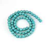 Women's Round Green Turquoise Beads (66pcs)