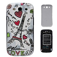 Romantic Towers PC Hard Battery Back Cover Housing for Samsung Galaxy S3 i9300