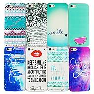 Especial Padrão Numérico Hard Cases para iPhone 5/5S (cores sortidas)