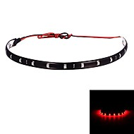 Merdia 12W 800LM 12x5050SMD LED Red Car Decoration Light -30CM (12V /1 PCS)