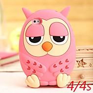 Cute Owl silikoni Kotelot iPhone 4/4S (Assorted Colors)