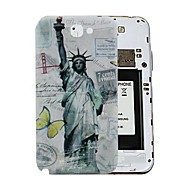 Statue of Liberty Retro Style PC Hard Battery Back Cover Housing for Samsung Galaxy Note 2 N7100