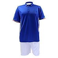 terno mangas curtas futebol masculino azul e branco