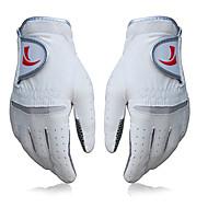 TTYGJ Men's Leather Material Anti-slip White Golf Gloves - 1 Piece