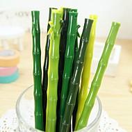 Realistic Bamboo Design Black Ink Gel Pen