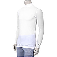 TTYGJ Men's Polyester+Spandex Long Sleeve White Golf Shirt
