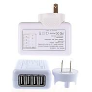 4 USB-hubbar avtagbar inomhus väggladdare för iPhone 6 iphone 6 plus / iPad och andra (5v 2.1a, oss plug)