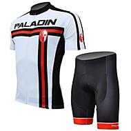 PALADIN® Camisa com Shorts para Ciclismo Homens Manga Curta Moto Respirável / Secagem Rápida / Resistente Raios UltravioletaCamisa +