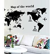 wereldkaart patroon muur sticker (1st)