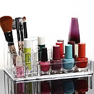 acryl transparante cosmetica opslag stand make-up borstel pot quadrate cosmetische organisator