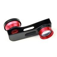 3 in 1 2X Telephoto Lens /Macro Lens/180 Fish Eye Lens Kit Set for iPhone 5 /5S