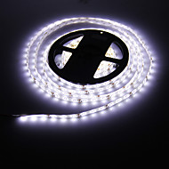Vanntett 5M 24W 300x3528 SMD Cool White Light LED Strip lampe (DC 12V)