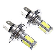 H4 11W White Light LED for Headlight Bulb (10-24V,2pcs)